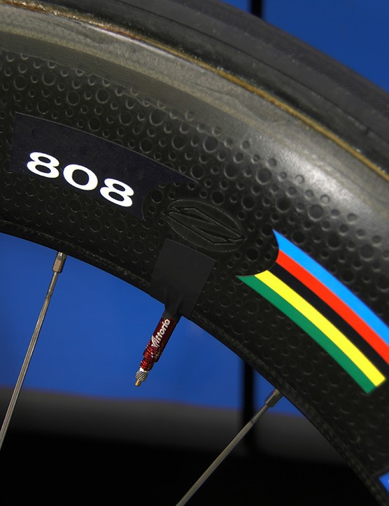 Zipp claims its latest 808 rim shape to save 2-7W at 30mph plus extra stiffness as compared to previous versions.