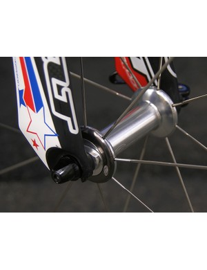 The new 88 front hub uses wider flange spacing and a larger diameter axle, plus it sheds the old dust caps which were prone to rattling.