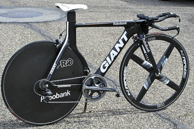 Rabobank's Giant time trial bikes are among the most striking shapes in the field yet the company says the unusual shape was dictated purely by speed.