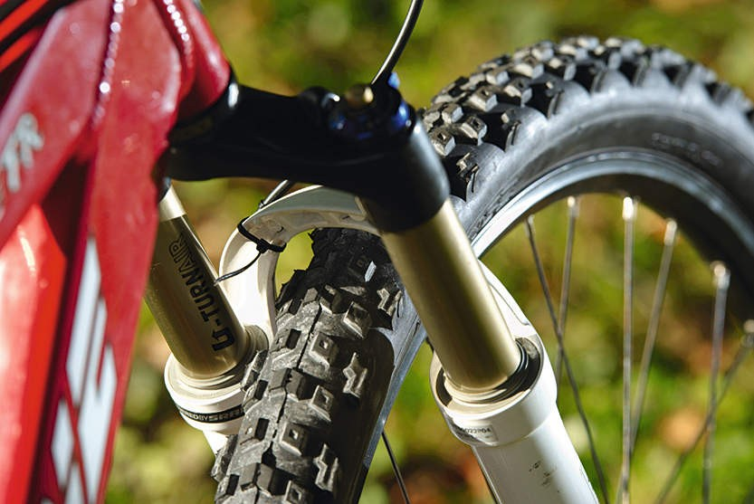 The Stiffee will happily take a mid- or long-travel fork