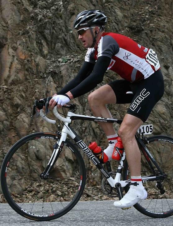 BMC Racing's Scott Nydam racing during the 2008 Tour of California.