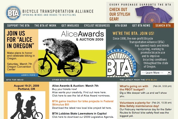 Bicycle Transportation Alliance is a Portland, Oregon based non-profit.
