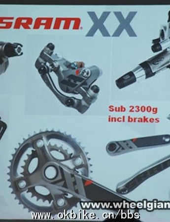 This leaked spy photo apparently provides the first sneak peek at SRAM's upcoming XX mountain bike group.