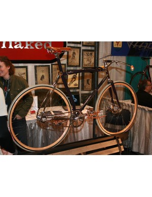 The US$15,000 Naked commuter, now residing in Lance Armstrong's bike shop in Austin, Texas.