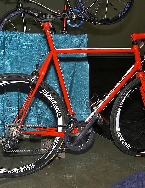 This year's Speedvagen road bike looks stunning in red.