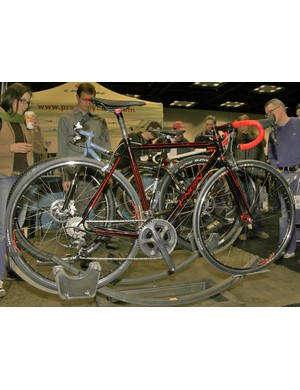 This Engin road bike was perhaps the most eye-catching of the booth.