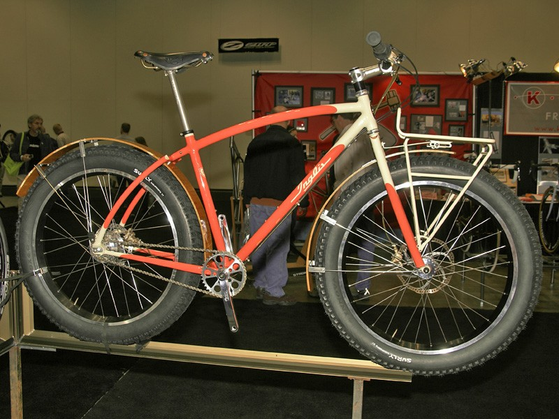 Curtis Inglis brought along this beautiful snow bike, built for a customer to fulfill a wide range of purposes.