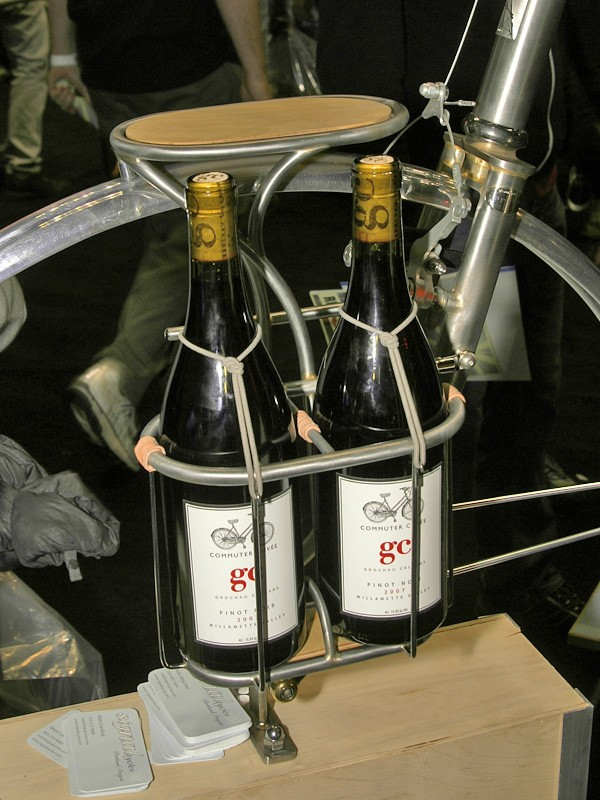 Signal Cycles has you all set just in case you're planning to attend a party by bike and need to bring some wine.