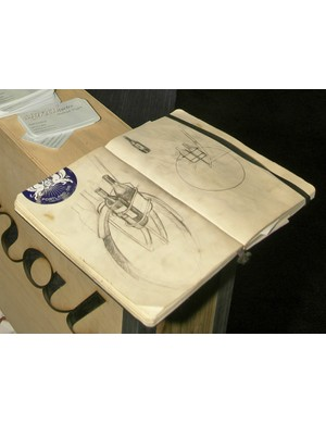 The artist's sketchbook - where this apparently all began.