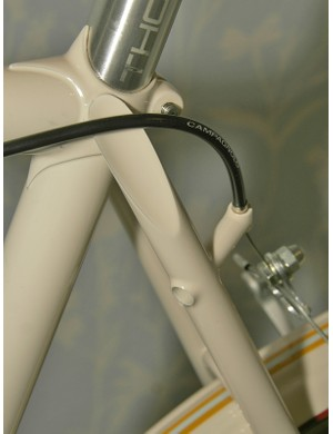 Signal Cycles' elegant rear brake housing stop.