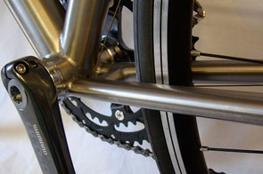 Close-up details of the Xicon bottom bracket.