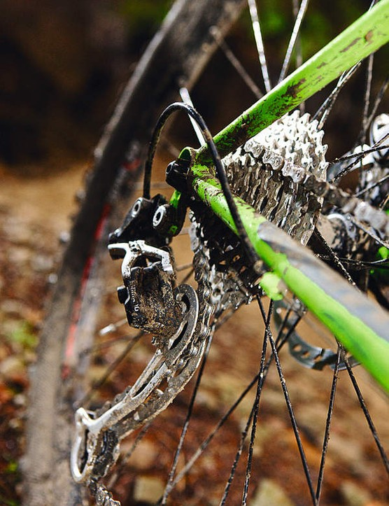 Cowled drop-outs complete the look of a classic steel steed