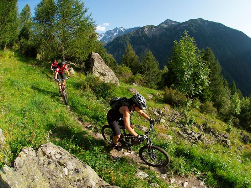 Sweet singletrack awaits you in the Alps