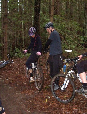 Enjoying some of Northern California's finest dirt riding with friends.