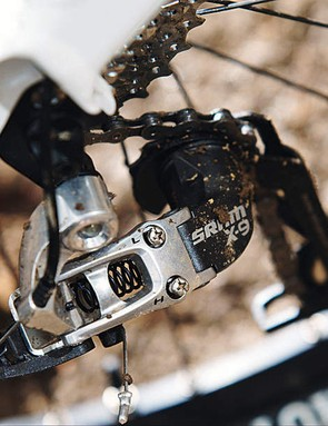 A SRAM X9 rear mech is a highlight of the Prophet's transmission