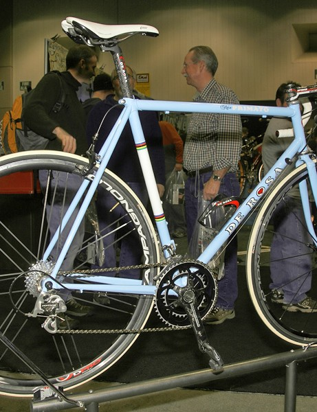 But even DeRosa is reporting increasing sales of its steel and titanium models.