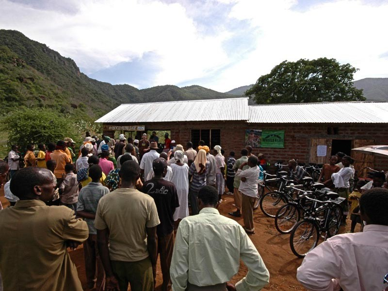 The opening of the bike shop drew a huge crowd