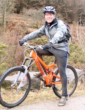 Alex Matthews after demo riding a Corsair Konig