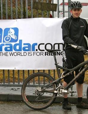 BikeRadar's very own JC-Dubb before hitting the demo trail