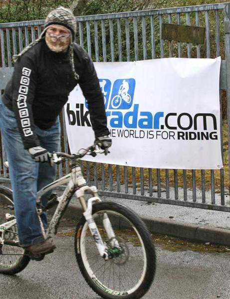 Masked Lapierre rider