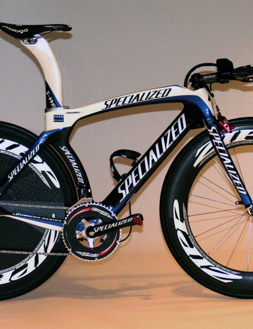 Fabian Cancellara's (Saxo Bank) new Specialized S-Works Transition