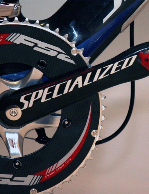 Cancellara prefers rangy 177.5mm-long crankarms.