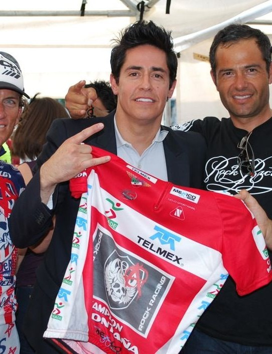 From left: Tyler Hamilton, Rock Racing Team Owner Michael Ball and Jose Manuel