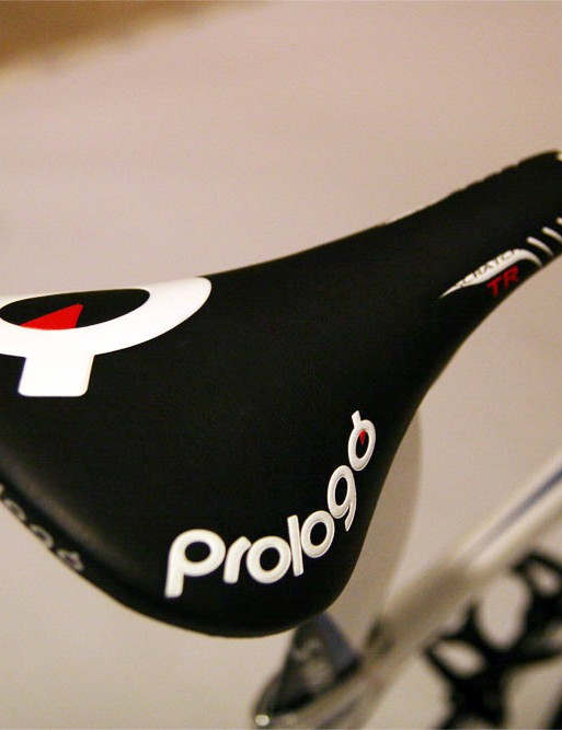 Cancellara calls a Prologo Scratch TR saddle home for much of the day.