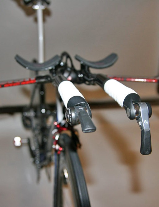 Bar-end shifters are fitted to Vision's R-bend extensions.