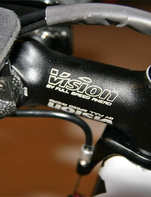 Cancellara uses a rather unassuming Vision by FSA stem.