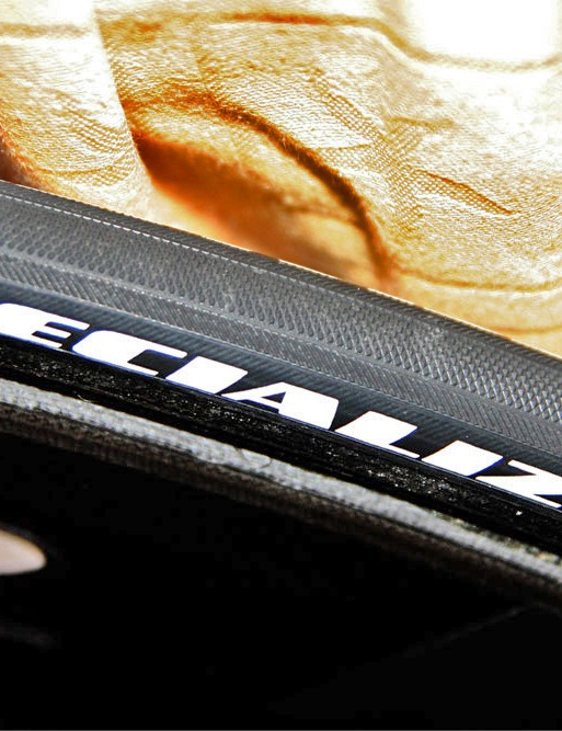 These tyres wear a Specialized hot stamp but they're not listed in the company catalogue.