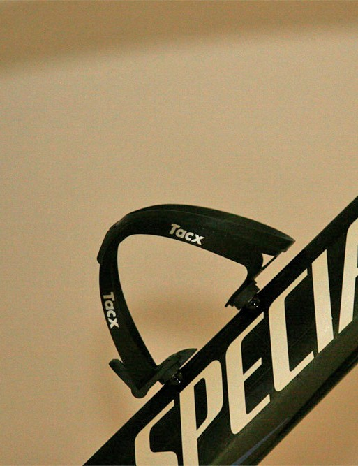 One Tacx bottle cage is all Cancellara needs.