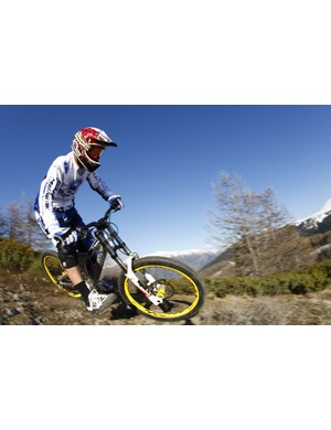 French multiple downhill world champ Fabien Barel is working closely with WTB on new tyre tread designs