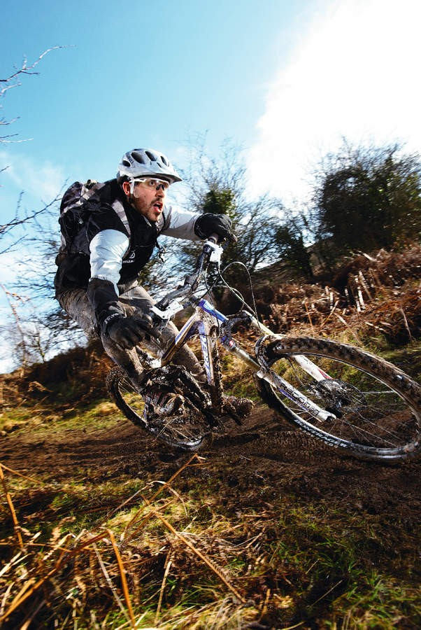 Stay balanced and find that cornering in mud is a real adrenalin rush