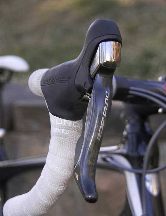 The new STI Dual Control levers offer a drastically different shape from Dura-Ace 7800