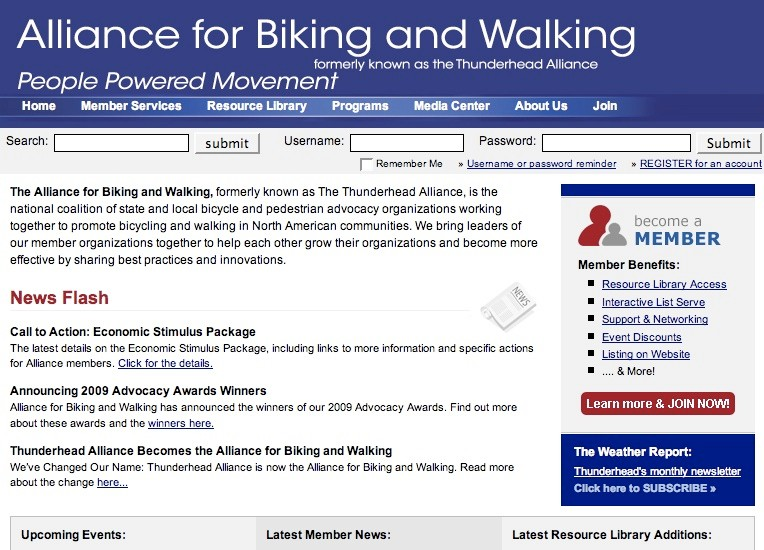 Alliance for Biking & Walking, formerly known as the Thunderhead Alliance.