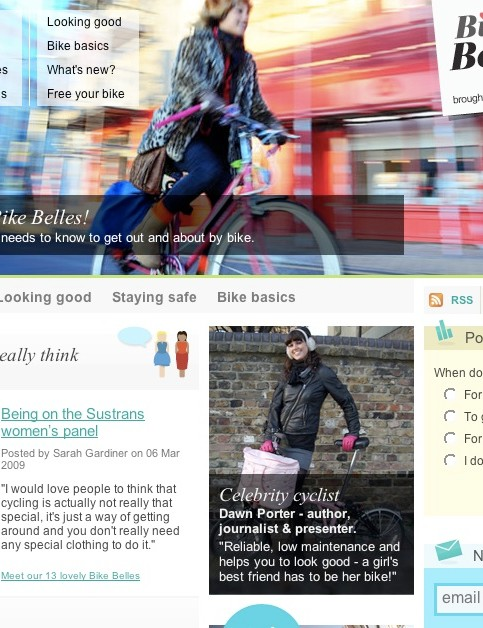 Bike Belles, a web resource for women