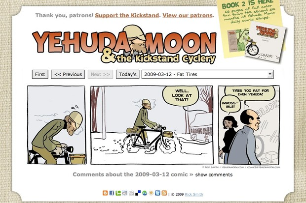 The Yehuda Moon cartoon strip is in its second year.
