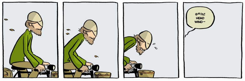 The very first Yehuda Moon comic strip, published January 22, 2008.