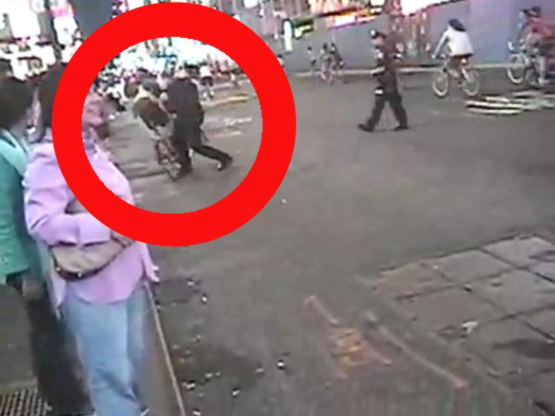 The US cop who attacked a cycle protester has been fired