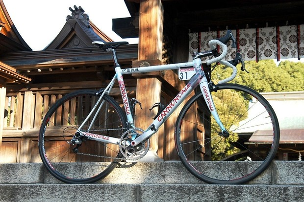 Liquigas rider Ivan Basso's custom Cannondale SuperSix from the 2008 Japan Cup.