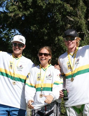 South Africa's new national champions (from left): Johann Potgieter, Anka Martin and Pierre van der Merwe