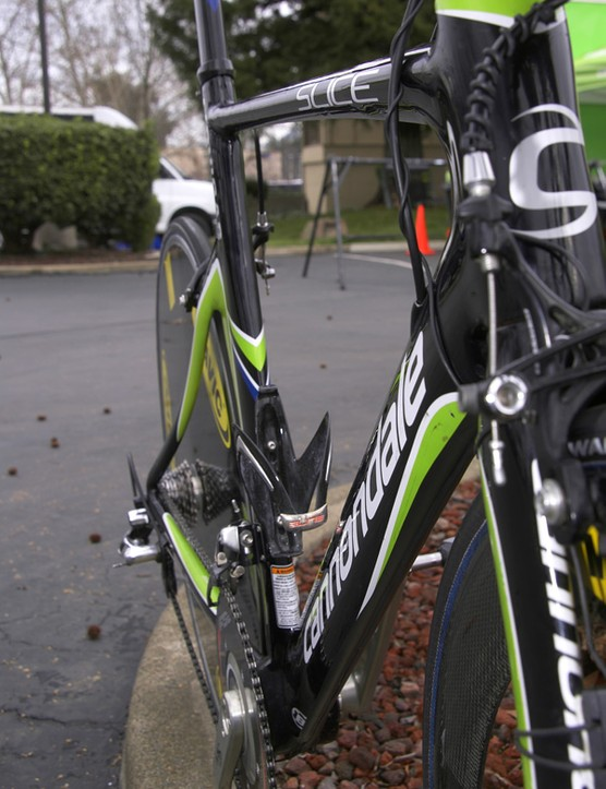 Naturally Cannondale has designed the Slice to have a relatively narrow profile.