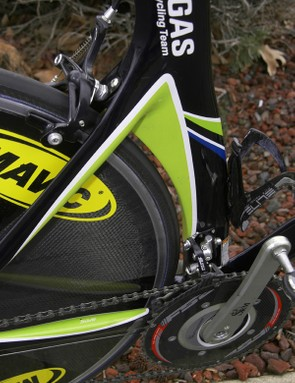 Cannondale's 'Speed Shadow' shields the rear wheel all the way from the bottom bracket to the seat stays.