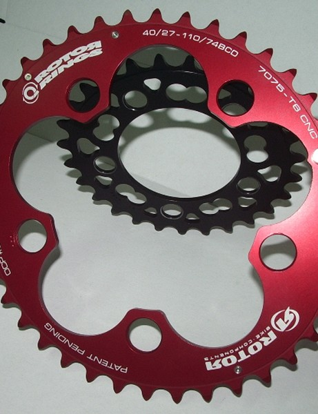 "Q-Rings are ovalised chainrings that are said to increase your power by maximising use of the efficient zones of the pedal stroke and reducing the intensity of the ""dead"" zones"