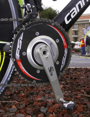 Like many pros these days, Basso prefers to both race and train using a power meter.