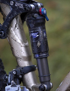 The excellent Fox Float RP2 shock gives the rear end great tuneability for every terrain type and riding style