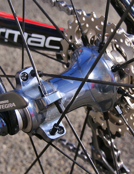The included Ultegra wheelset is a good mid-level choice  if a bit heavy and slow to accelerate.
