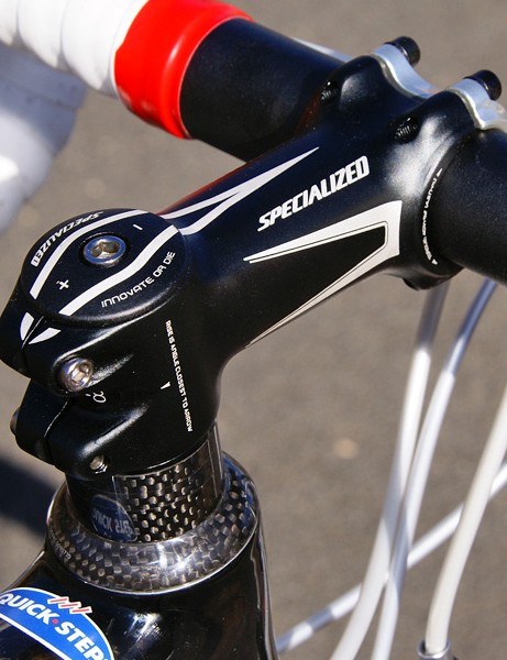 The Specialized Pro-Set stem affords multiple angles without having to resort to bulky and heavy hinges.
