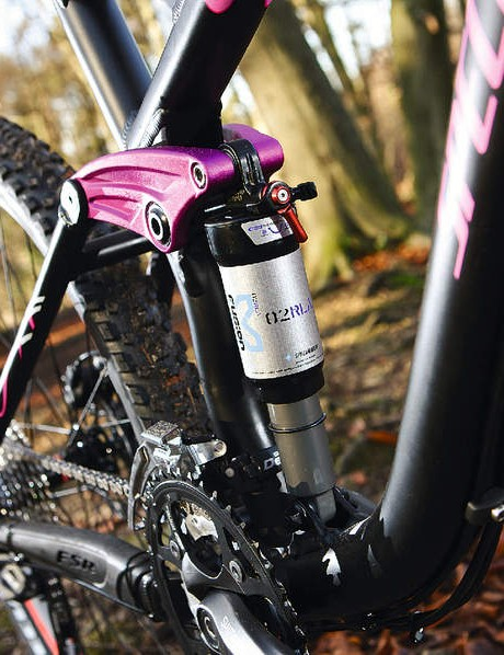 X-Fusion shock is custom-tuned for lighter riders